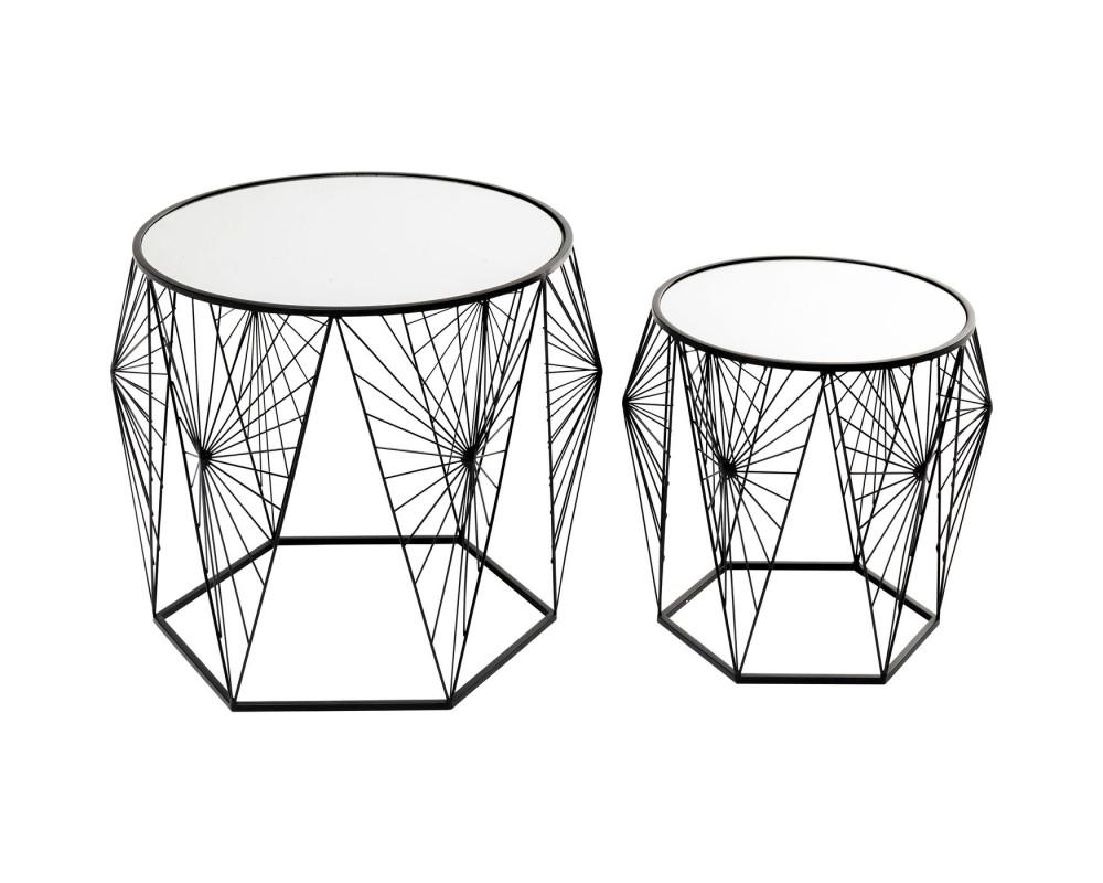 Side Table Cobweb Black (2/Set)