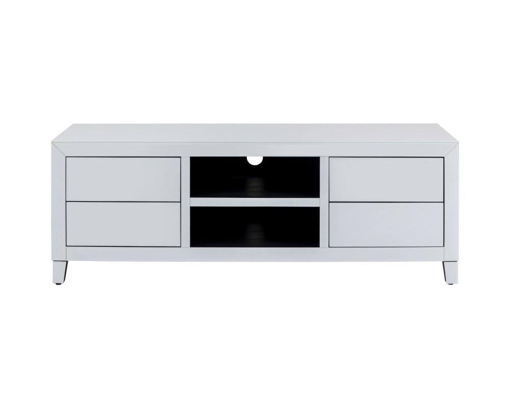 TV Board Luxury Push White 140x50cm