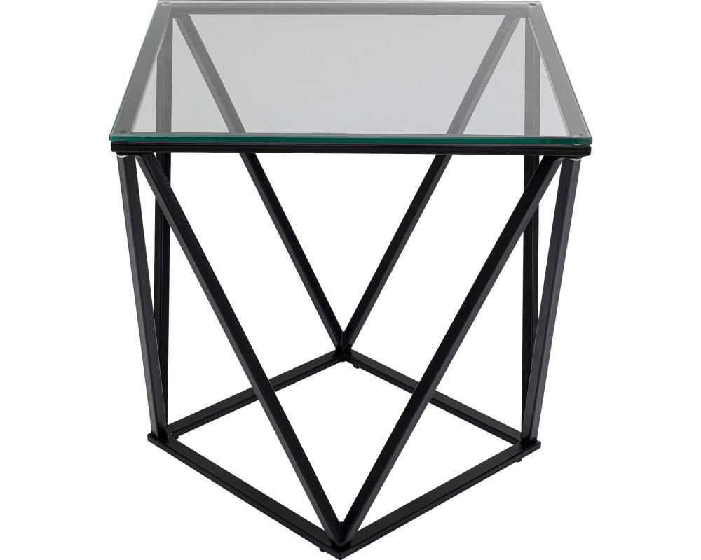 Side Table Cristallo Black 50x50