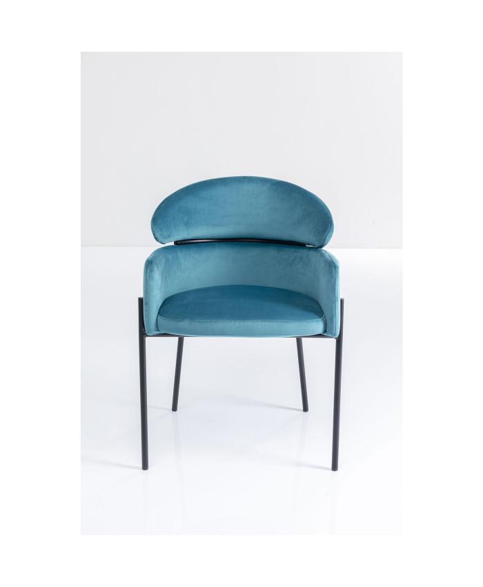 Chair with Armrest Alexia Velvet Blue