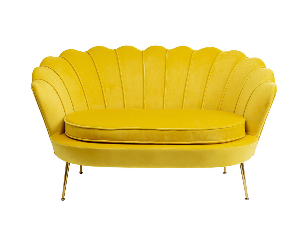 Sofa Water Lily 2-Seater Yellow 132cm