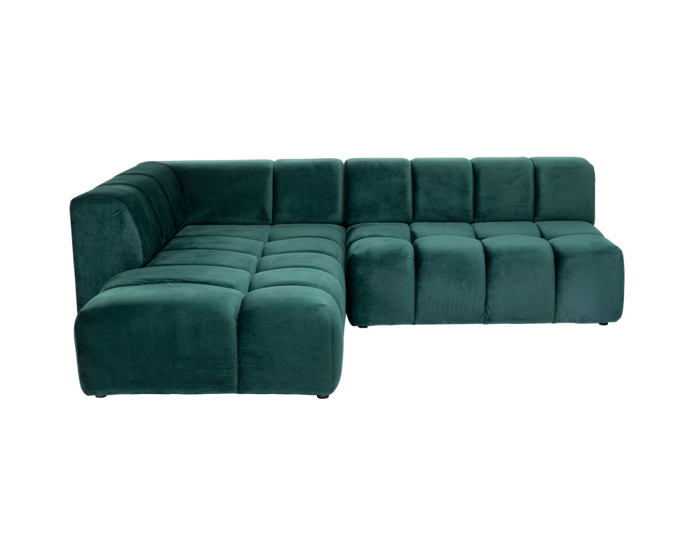 Corner Sofa Belami Velvet Dark Green Left 265cm