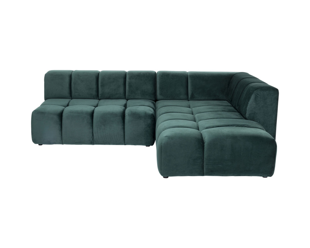 Corner Sofa Belami Velvet Dark Green Right 265cm