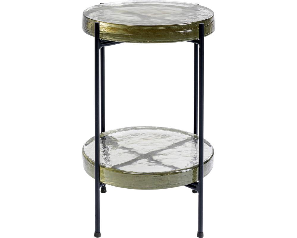 Side Table Ice Double Black Ø30cm
