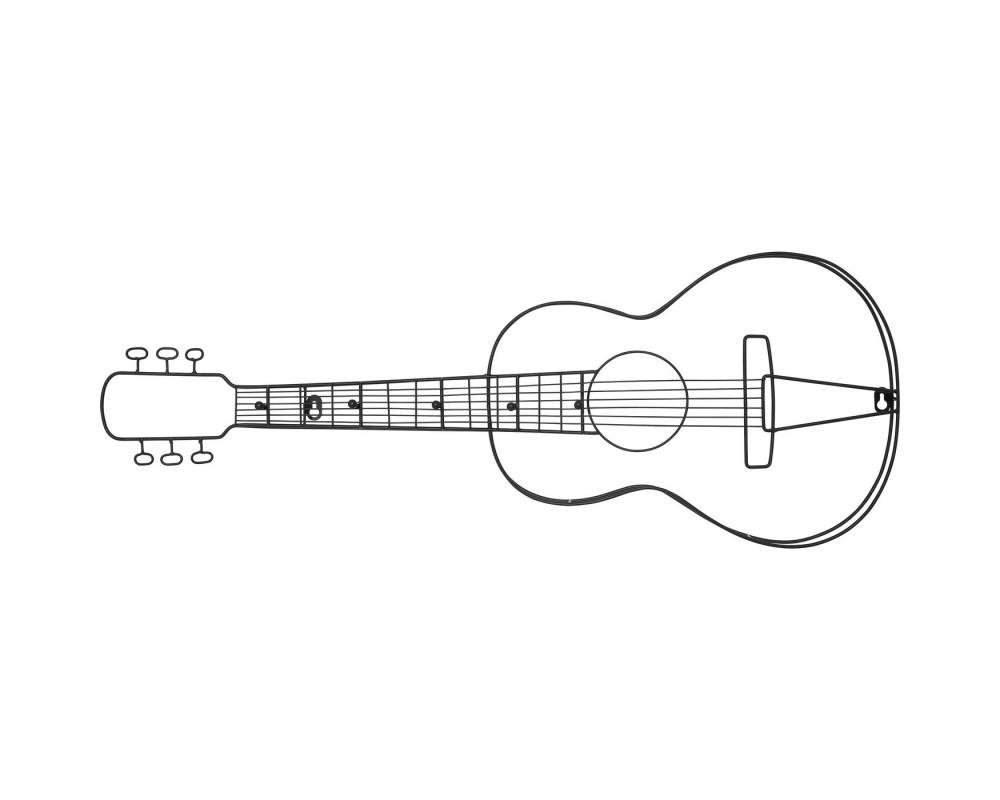 Wall Wardrobe Guitar 81cm