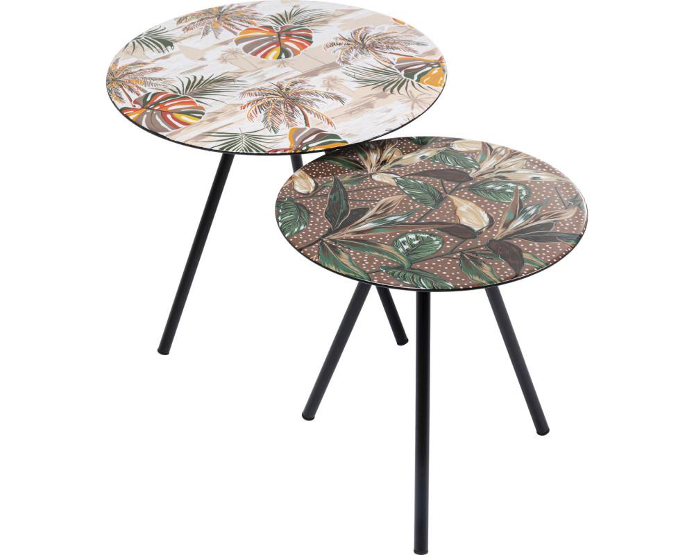 Side Table Blooming Leaves (2/Set)