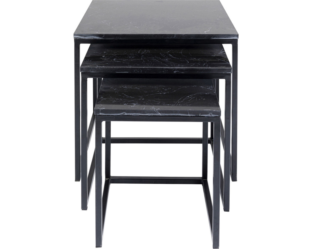 Side Table Key West Marble Black (3/Set)