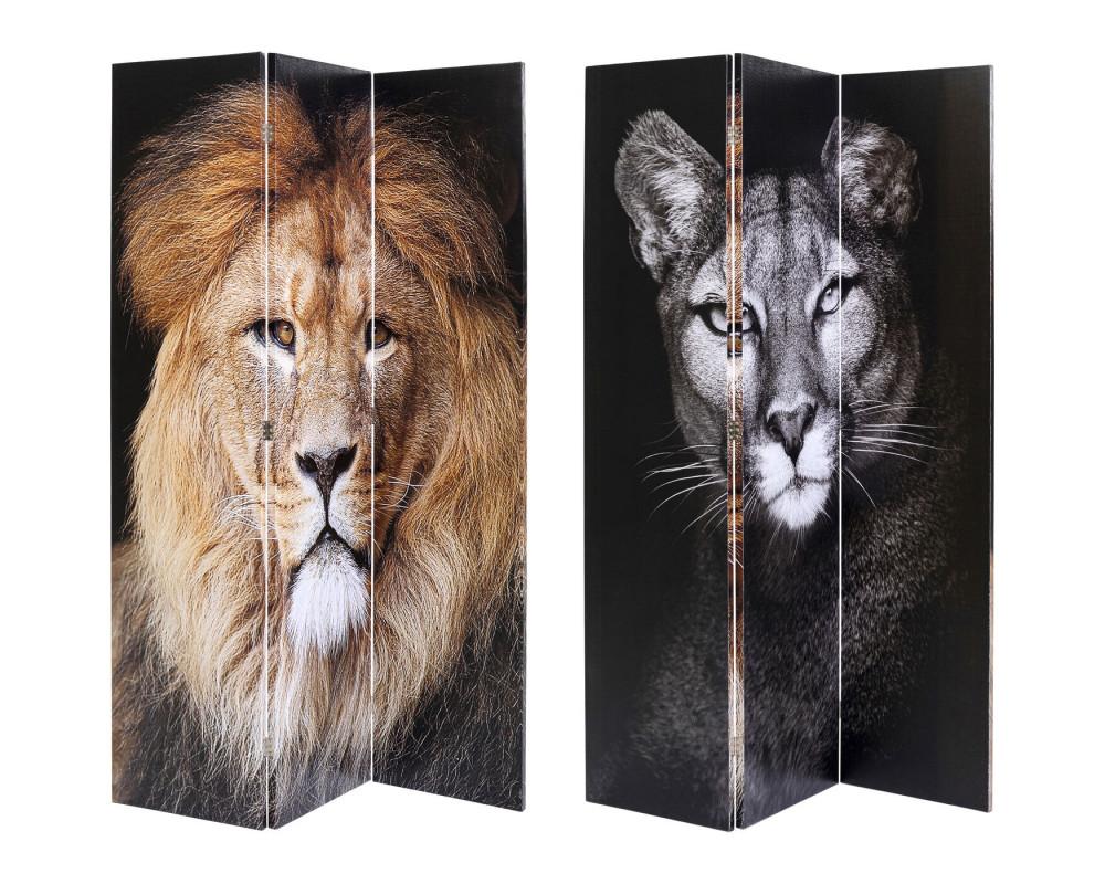 Room Divider King Lion vs Cat Girl 120x180cm