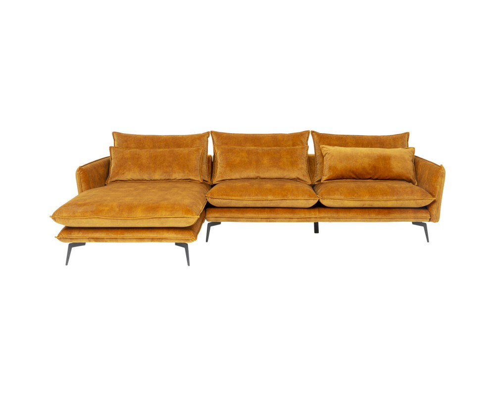 Corner Sofa Ferrara Left Curry 296cm